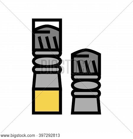 Bullets For Pneumatic Weapon Color Icon Vector. Bullets For Pneumatic Weapon Sign. Isolated Symbol I