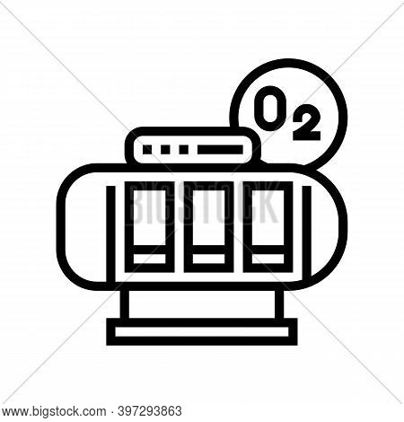 Oxygen Saturation Chamber Line Icon Vector. Oxygen Saturation Chamber Sign. Isolated Contour Symbol