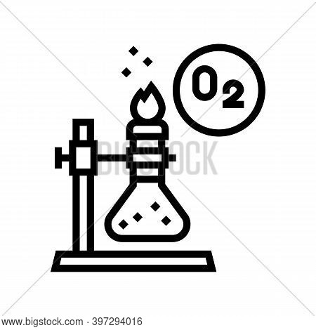 Chemistry Research Oxygen Line Icon Vector. Chemistry Research Oxygen Sign. Isolated Contour Symbol