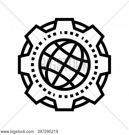 Earth Geology Research Line Icon Vector. Earth Geology Research Sign. Isolated Contour Symbol Black