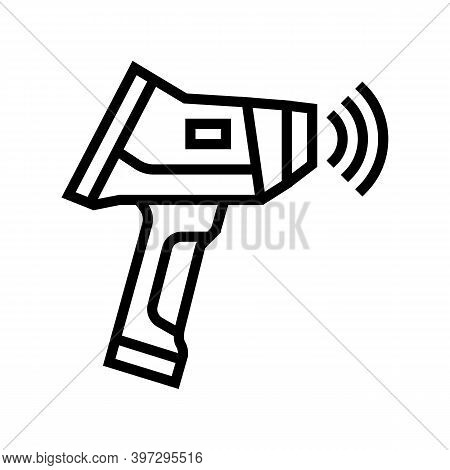 Geology Measuring Device Line Icon Vector. Geology Measuring Device Sign. Isolated Contour Symbol Bl
