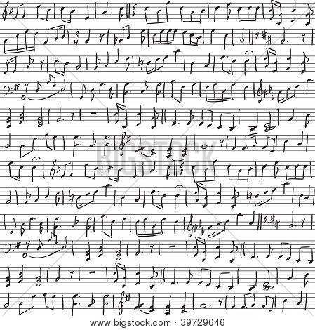 Handwritten Musical Notes