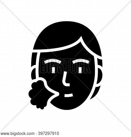 Human Sneezing Glyph Icon Vector. Human Sneezing Sign. Isolated Contour Symbol Black Illustration