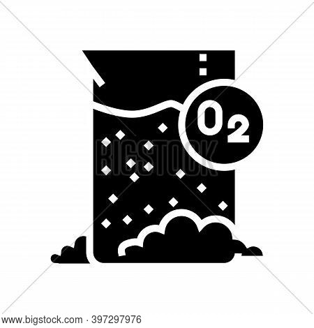 Chemical Reaction On Oxygen Glyph Icon Vector. Chemical Reaction On Oxygen Sign. Isolated Contour Sy