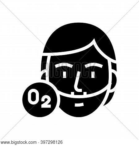 Human Breath Oxygen Tool Glyph Icon Vector. Human Breath Oxygen Tool Sign. Isolated Contour Symbol B