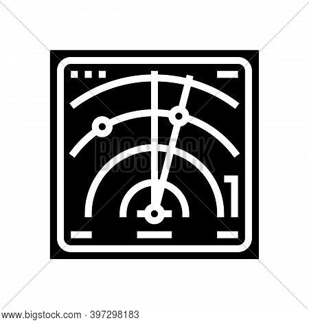 Radar Location Technology Glyph Icon Vector. Radar Location Technology Sign. Isolated Contour Symbol