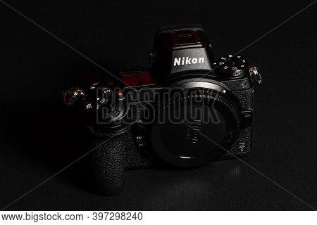 Dolyna, Ukraine September 17, 2020: Detailed Shooting Of A Nikon Z-series Camera.