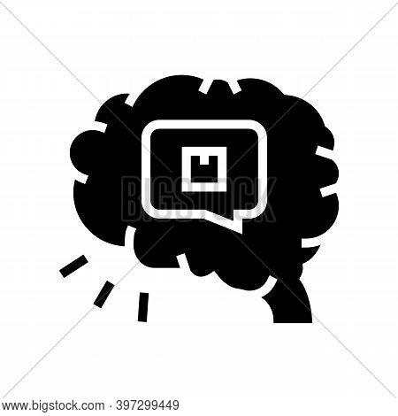 Brainstorm Design Of Box Glyph Icon Vector. Brainstorm Design Of Box Sign. Isolated Contour Symbol B
