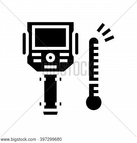 Thermal Imager Glyph Icon Vector. Thermal Imager Sign. Isolated Contour Symbol Black Illustration