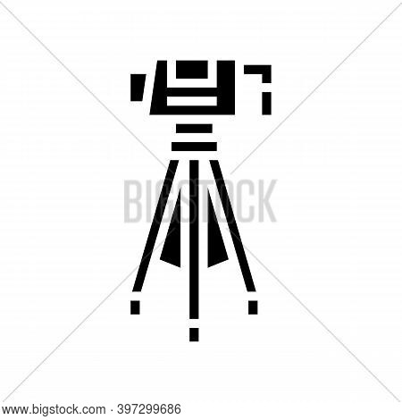Geology Measuring Gadget Glyph Icon Vector. Geology Measuring Gadget Sign. Isolated Contour Symbol B