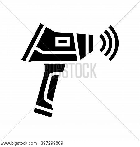 Geology Measuring Device Glyph Icon Vector. Geology Measuring Device Sign. Isolated Contour Symbol B