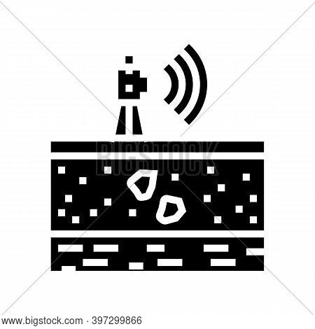 Geodetic Equipment Glyph Icon Vector. Geodetic Equipment Sign. Isolated Contour Symbol Black Illustr