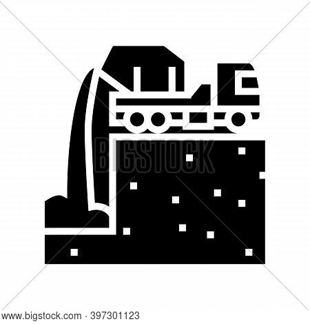 Pouring Foundation Glyph Icon Vector. Pouring Foundation Sign. Isolated Contour Symbol Black Illustr