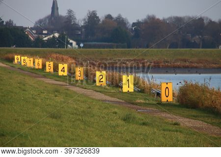 Boards With The Lane Number At The Willem Alexanderbaan Row Facility At The Eendragtspolder In Zeven