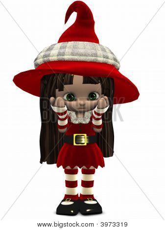 Little Christmas Elf Toon Figure
