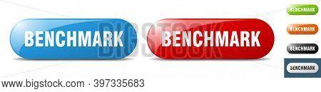 Benchmark Button. Key. Sign. Push Button Set