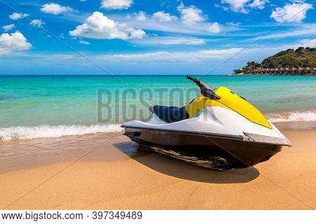Jetski On The Chaweng Noi Beach At Samui Island, Thailand