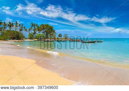 Relax Bay Beach On Koh Lanta Yai Island, Thailand In A Sunny Day