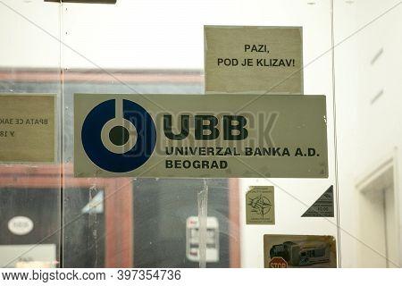 Belgrade, Serbia - October 8, 2020: Ubb Logo On Their Former Main Office In Belgrade. Also Known As