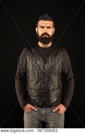 Wear Casual While Staying Stylish. Bearded Man In Casual Style. Cool But Casual Hipster Male. Casual