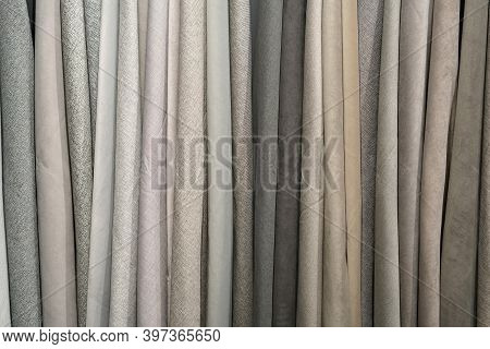 Close Up On  Hanging Textile Sample As Background