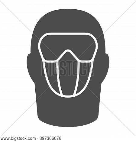 Snowboarding Balaclava Solid Icon, World Snowboard Day Concept, Winter Wear For Active Lifestyle Sig