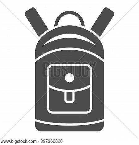 Backpack Solid Icon, World Snowboard Day Concept, Sport Rucksack Sign On White Background, Unisex To