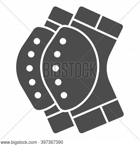 Protective Knee Pads Solid Icon, World Snowboard Day Concept, Skateboarding Protective Gear Sign On