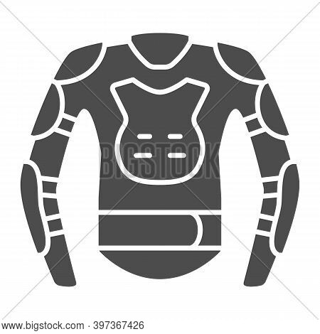 Snowboarder Protective Suit Solid Icon, World Snowboard Day Concept, Snowboard Jacket Sign On White