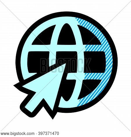 World Wide Web Concept Globe Icon Set. Planet Web Symbol Set. Globe Icons For Websites. Globe Symbol