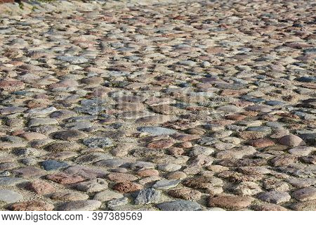 Cobble pavement made of old stones