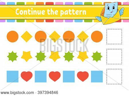 Continue The Pattern. Education Developing Worksheet. Game For Kids. Activity Page. Puzzle For Child