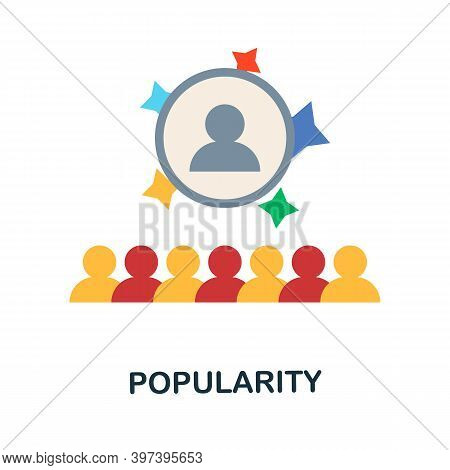 Popularity Flat Icon From Reputation Management Collection. Simple Line Element Popularity Symbol Fo