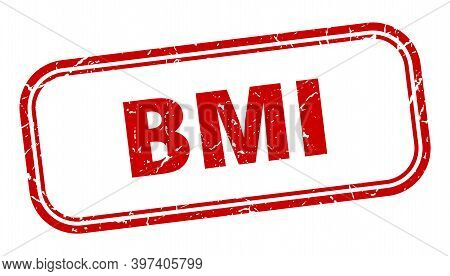 Bmi Stamp. Bmi Square Grunge Red Sign. Bmi Tag