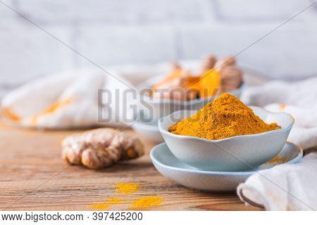 Turmeric Root Curcuma Longa Powder, Superfood, Spices
