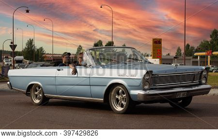 Rattvik, Sweden - July 27.2013: Classic Car Week Rttvik - Ford Galaxie 500 Cabriolet, Oldtimer Car.