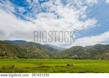 Vietnamese Mountains View From Cam Ranh