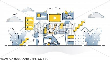 Content Manager Creative Writing Work For Social Media Blog Advertisement Outline Concept. Text, Pho