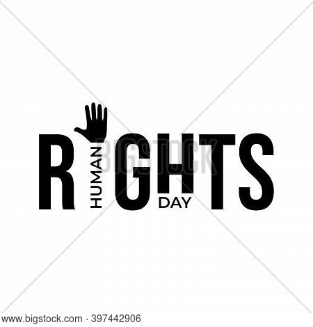 Design For Celebration The Human Rights Day With Recover Better - Stand Up For Human Right Theme.