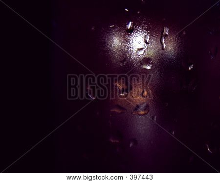 rainy background with drops in a glass poster