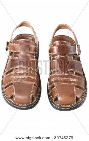 New Men's  Sandals  On White