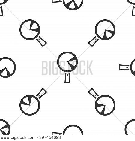 Grey Omelette In Frying Pan Icon Isolated Seamless Pattern On White Background. Omelet In A Skillet.