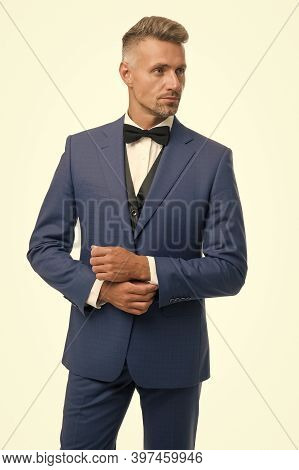 Eligible Bachelor. Bachelor Man Isolated On White. Single Man In Formal Style. Bachelor Party. Celeb