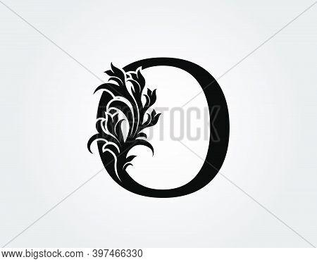 Monogram Letter O Luxury Logo Icon, Vintage Deco O Letter Vector Design.