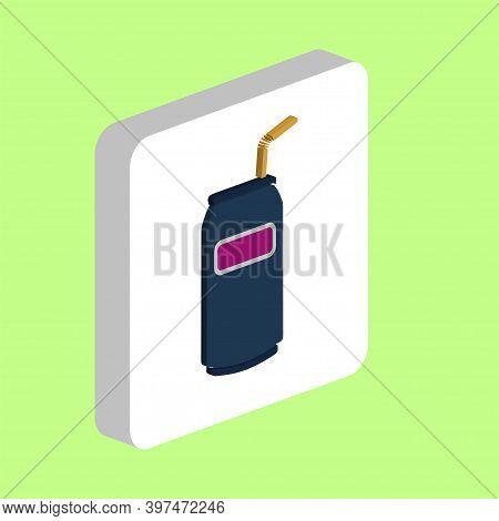 Soda Simple Vector Icon. Illustration Symbol Design Template For Web Mobile Ui Element. Perfect Colo