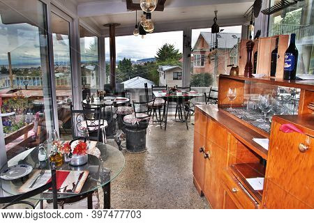 Punta Arenas, Patagonia, Chile - 20 Dec 2019: The Cafe Of Punta Arenas, Patagonia, Chile