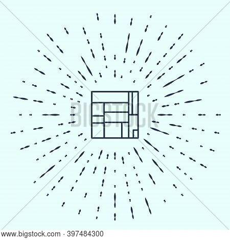 Black Line House Edificio Mirador Icon Isolated On Grey Background. Mirador Social Housing By Mvrdv