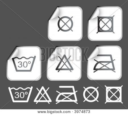 Labels Wish Washing Symbols