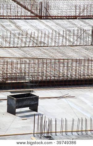 construction site concrete steel