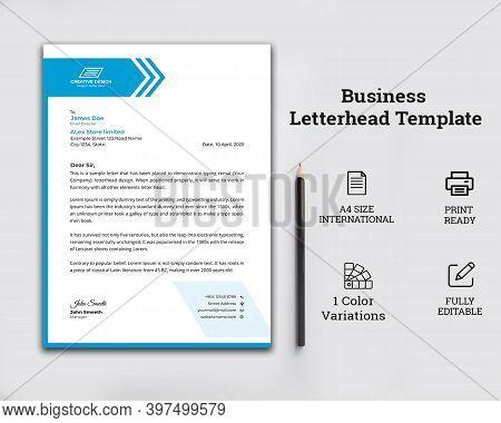 Business Style Letterhead Template Design,corporate Letter Head Design Templete For Your Buesinees